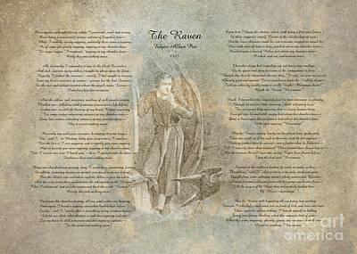 Digital Art -  The Raven By Edgar Allan Poe by Olga Hamilton