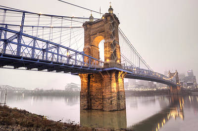 Roebling Bridge Photograph -  The Roebling Bridge by Keith Allen