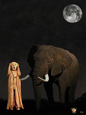 Mixed Media -  The Scream World Tour African Elephant  by Eric Kempson