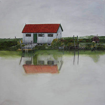 Charente Maritime Painting -  The Shack by Kapy Art