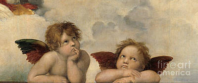 Painting -  The Sistine Madonna . Detail by Celestial Images