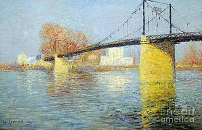 The Suspension Bridge Has Trielsurseine Art Print by Celestial Images