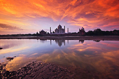 Ancient Culture Photograph - .: The Taj :. by Photograph By Ashique
