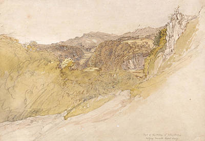 Painting -  The Valley Of Dolwyddelan by Samuel Palmer