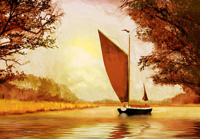 Painting -  The Wherry Albion by Valerie Anne Kelly