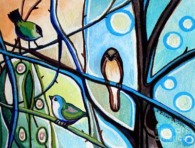 Elizaart Painting -  Three Birds by Elizabeth Robinette Tyndall