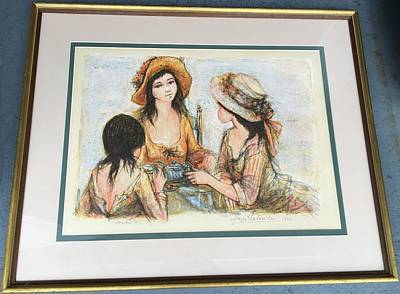 Jacques Mixed Media -  Three For Tea  by Jacques La Lande