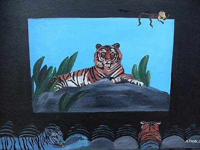 Painting -  Tiger Show by Aleta Parks