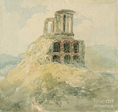 Title A Temple Of Vesta Art Print by MotionAge Designs