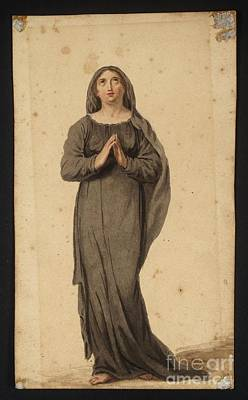 Woman Praying Painting -  Title Woman Praying by MotionAge Designs