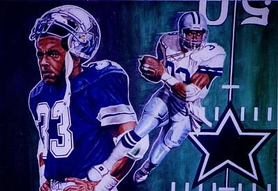 Painting -  Tony Dorsett by Darryl Matthews