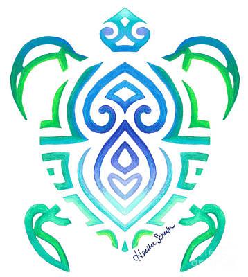 Tribal Turtle Art Print