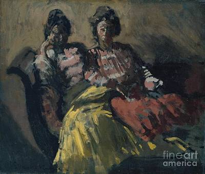 Two Ladies Painting -  Two Women On A Sofa by MotionAge Designs