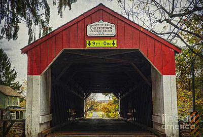 Photograph -  Uhlerstown Covered Bridge Iv by Debra Fedchin