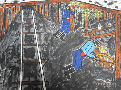 Lungs Painting -  Coal Miners Work by Jeffrey Koss