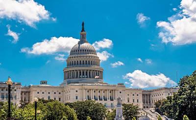 Autumn Photograph -  Us Capitol Building, Washington Dc by Art Spectrum
