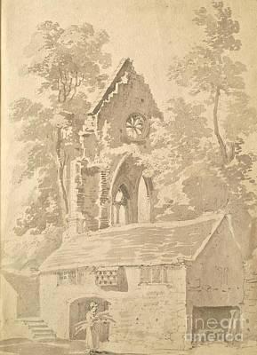 Valle Crucis Abbey Near Llangollen Art Print