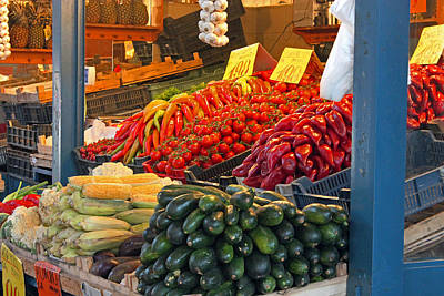 Photograph -  Vegetable Stall by Tony Murtagh