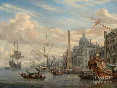Port Painting -  View From The Port by Celestial Images