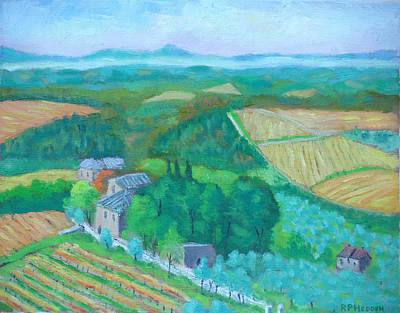 View Fromtuscany Castello Di Brolio Original by Robert P Hedden