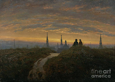 Romantik Painting -  View Of Dresden At Sunset by Celestial Images
