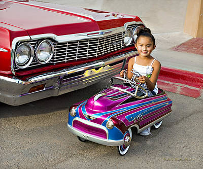 Photograph -  Vintage Pedal Car_a1 by Walter Herrit