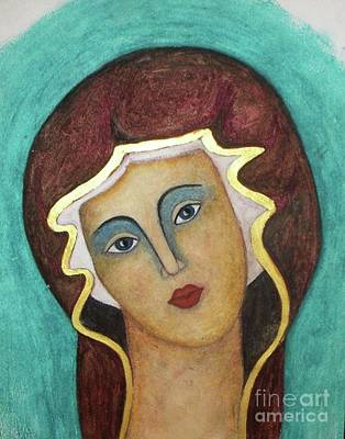 Orthodox Icon Painting -  Virgin Mary by Vesna Antic
