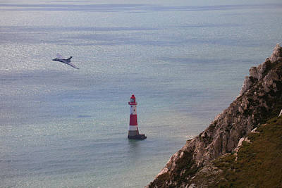 Photograph -  Vulcan Bomber Xh558 Beachy Head by Ken Brannen