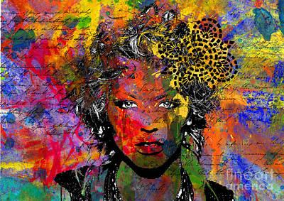 Emotion Digital Art -  Vulnerable by Ramneek Narang