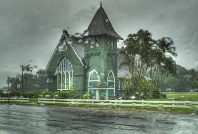 Photograph -  Waioli Huiia Church Kauai  by Joe  Palermo