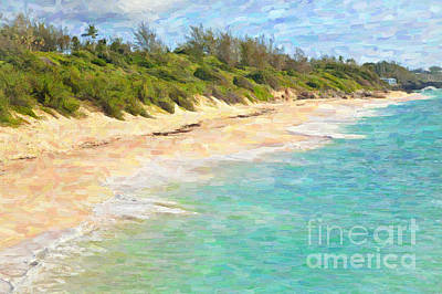 Warwick Long Bay In Bermuda Print by Verena Matthew