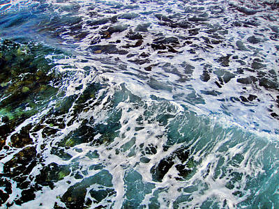 Wave Texture.  Sea.    Art Print by Andy Za