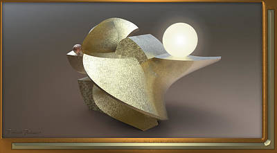 ' Wavy Cut Sculpture Light ' Art Print