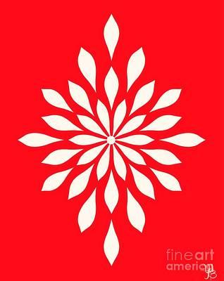 Digital Art -  White Star Flower by Mindy Bench