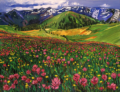 Wildflowers Original by David Lloyd Glover