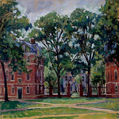 Berkshires Painting -  Williams College Quad by Thor Wickstrom