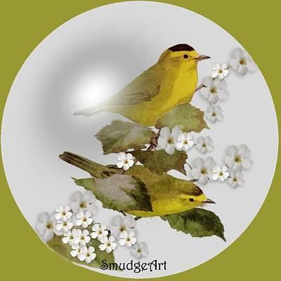 Warbler Digital Art -  Wilson Warbler by Madeline  Allen - SmudgeArt