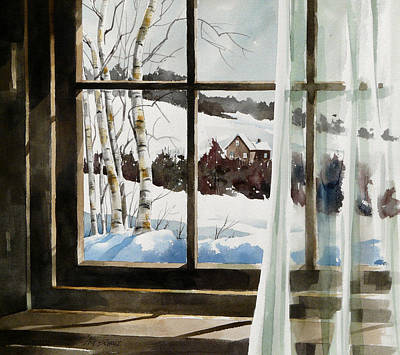Painting -   Winter Window by Art Scholz