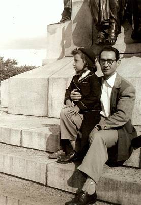 Montreal Cityscenes Photograph -  With Dad On Mount Royal by Carole Spandau