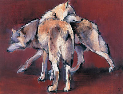 Wolf Composition Art Print by Mark Adlington