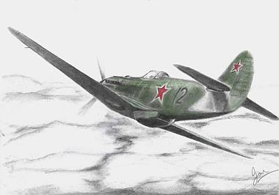 Yak Drawing -  Yak 9c by Ian Johnson
