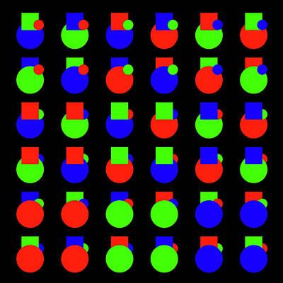 Painting - 000 Circle And Square - Phi by REVAD David Riley