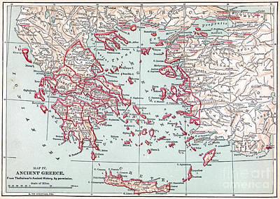 Map: Ancient Greece Art Print by Granger