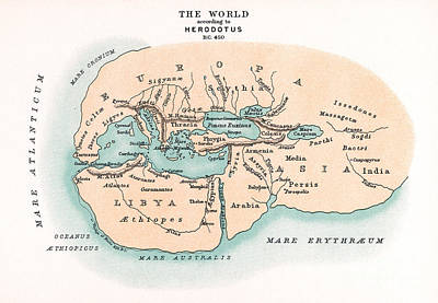 World Map Art Print by Granger