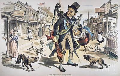 Prohibition  Cartoon, 1889 Art Print by Granger