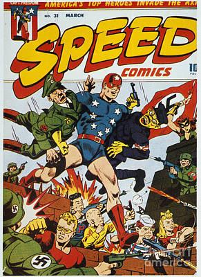 World War II: Comic Book Art Print by Granger