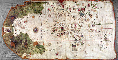 Cartography Painting - Nina: World Map, 1500 by Granger