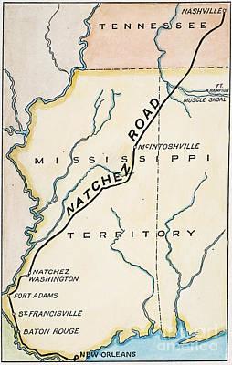 Nashville Painting - Natchez Trace, 1816 by Granger