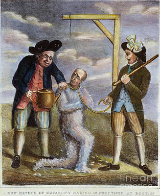 Tea Party Painting - Tarring & Feathering, 1774 by Granger