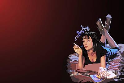 Pulp Fiction Digital Art - 001. Now I Wanna Dance by Tam Hazlewood